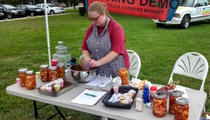 Kimchi Demo at the Augusta Veggie Food Truck