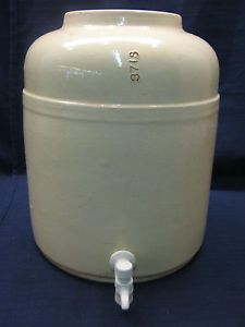 Antique Pottery Crock Water Cooler